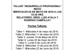 TALLER DESARROLLO PROFESIONAL