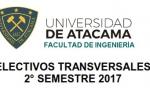 ELECTIVOS TRANSVERSALES 2° SEMESTRE 2017